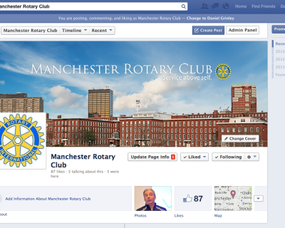 Manchester Rotary Club Facebook Page