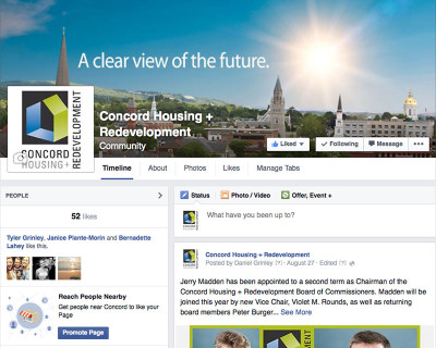 Concord Housing + Redevelopment's Facebook Page