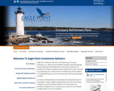 Grinley Creative launches mobile-ready website for Eagle Point Financial Advisors