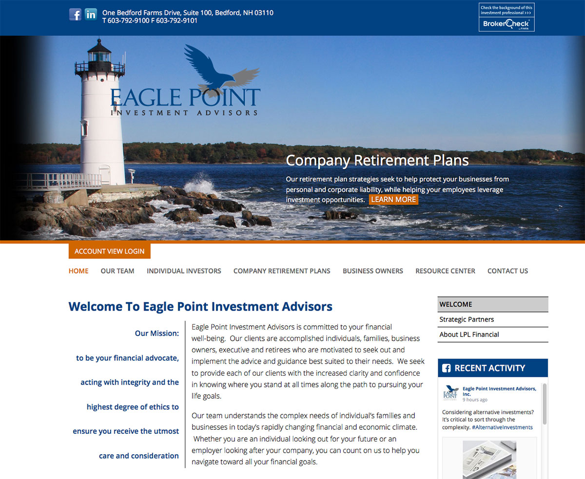 Grinley Creative launches mobile-ready website for Eagle Point ...