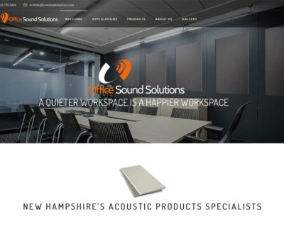 Grinley Creative designs logo and website for Office Sound Solutions
